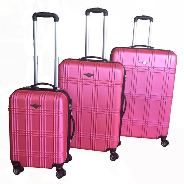RivoLite Capri Pink 3-piece Lightweight Hardside Spinner Luggage Set