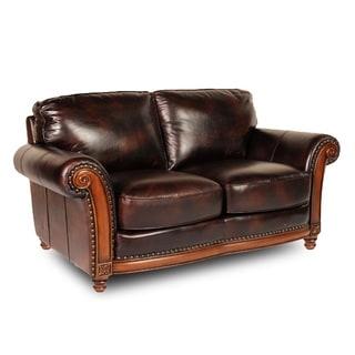 Alexus Leather Loveseat by Lazzaro Leather