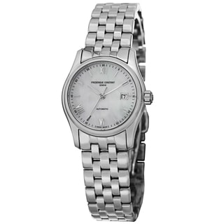 Frederique Constant Women's FC-303MPWN1B6B 'Index' Mother of Pearl Dial Stainless Steel Automatic Watch