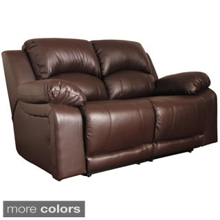 Somette Perth Motion Leather Love seat