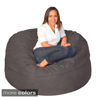 Large Memory Foam Bean Bag 5-foot Foam Chair