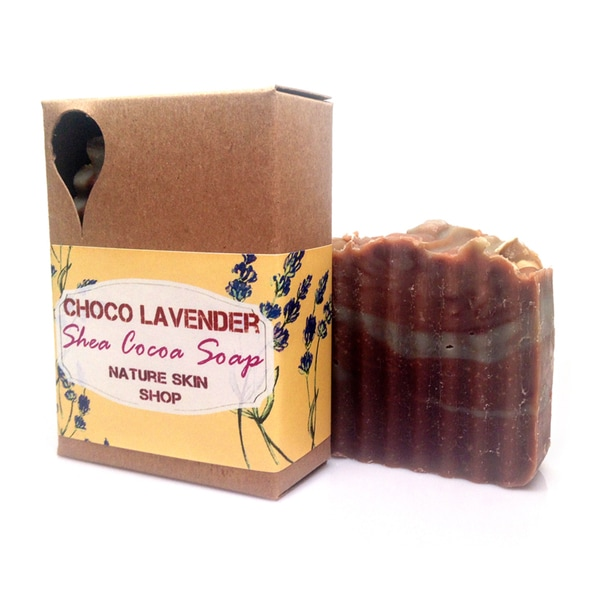 Chocolate Lavender Shea and Cocoa Natural Soap