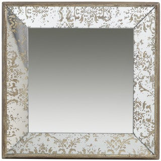 Rustic Square Tray Wall Mirror