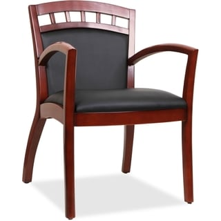 Lorell Wood Crowning Accent Guest Chair