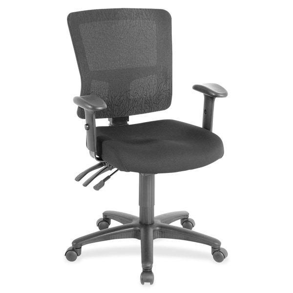 Lorell Black Low-back Mesh Chair