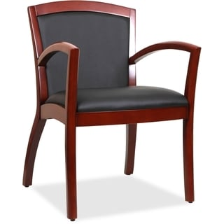 Lorell Wood Arched Arms Guest Chair