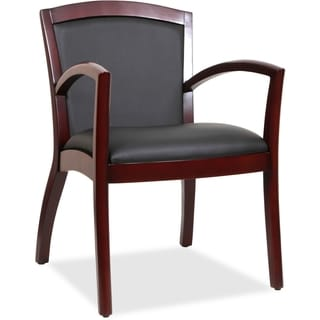 Lorell Arched Arms Wood Guest Chair