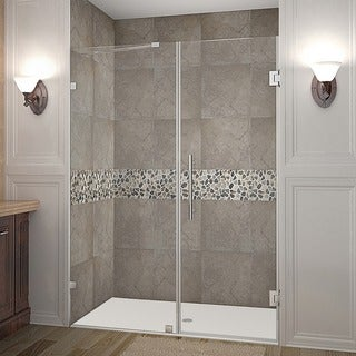 Aston Nautis 58-in x 72-in Completely Frameless Hinged Alcove Shower Door in Chrome