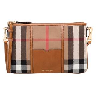 Burberry Brown Check Canvas Crossbody Bag