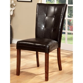 Furniture of America Hughfort Modern Tufted Dining Chair (Set of 2)