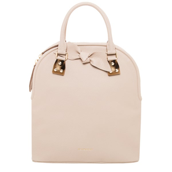 Burberry 'Bloomsbury' Medium Stone Leather Satchel