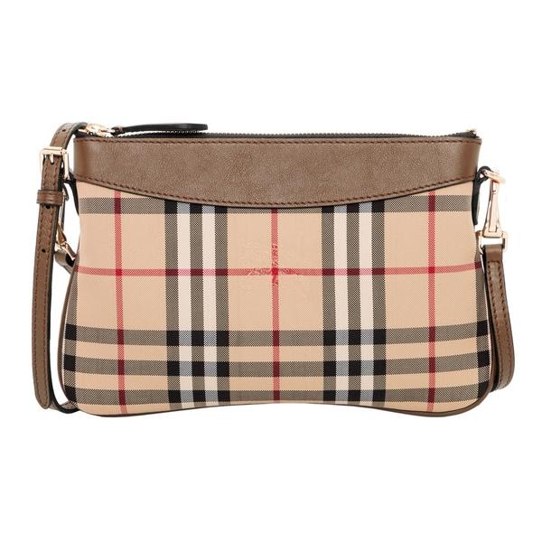 Burberry Tan Horseferry Check Clutch Bag