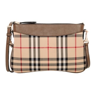 Burberry Tan Horseferry Check Clutch Bag