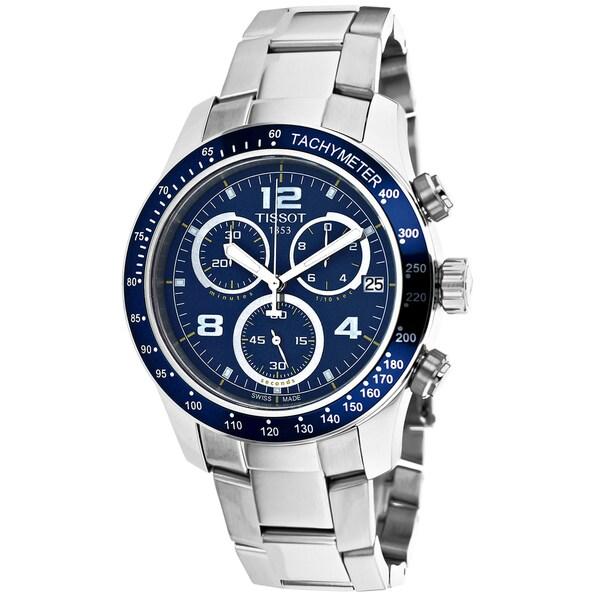 Tissot Men's T0394171104702 T-Sport V8 Round Silvertone Bracelet Watch