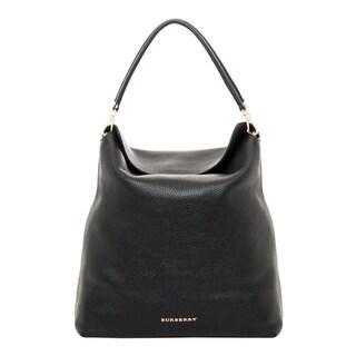 Burberry Medium Leather Hobo Bag