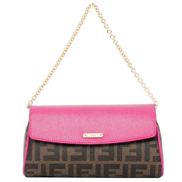 Fendi Tobacco and Pink Zucca Mini Bag