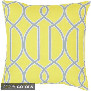 Barrett 22-inch Lattice Decorative Poly or Down Filled Throw Pillow