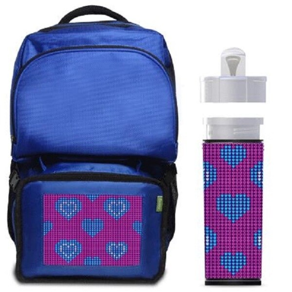 Pulsating Hearts Backpack/ Lunchbox Combo With Matching Water Bottle