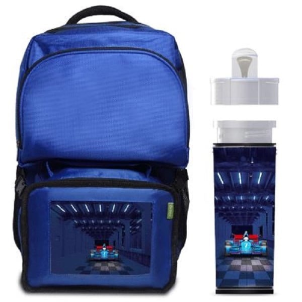 Midnight Racer Car Backpack/ Lunchbox Combo With Matching Water Bottle