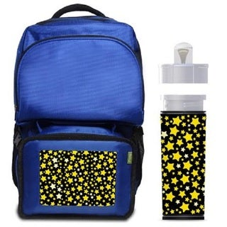 Golden Stars Backpack/ Lunchbox Combo with Matching Water Bottle