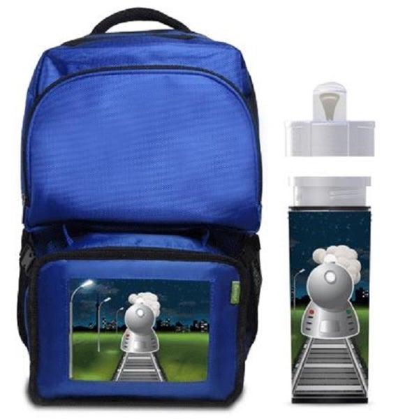 Express Night Train Backpack/ Lunchbox Combo With Matching Water Bottle