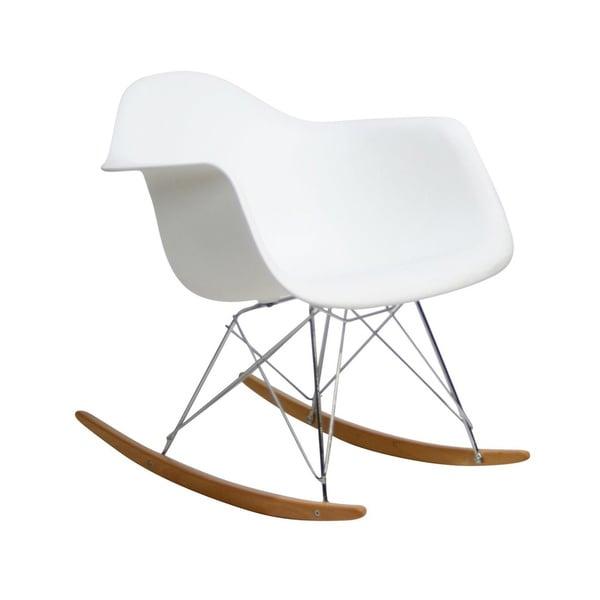 Small White Fiberglass Cradle Chair