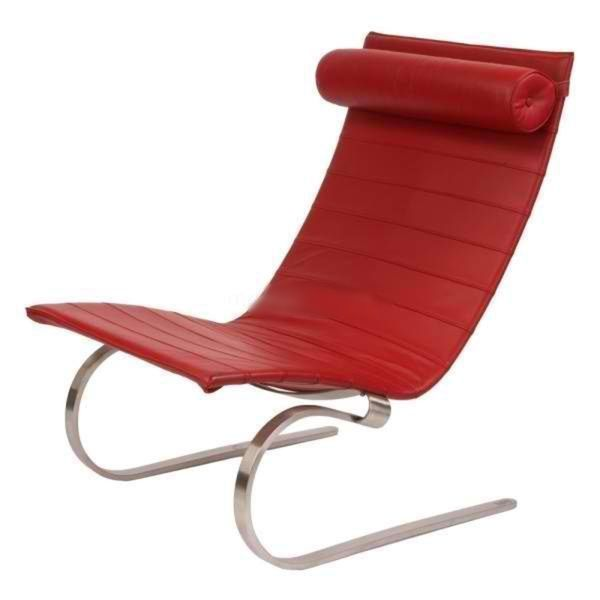 Modern Leather Cantilever Lounge Chair