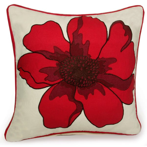 Jovi Home Marseille Hand-printed 17-inch Decorative Pillow Cover