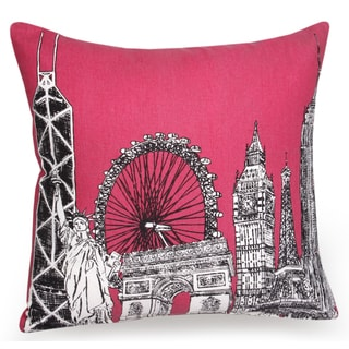 Jovi Home Skyline Hand-printed 16-inch Decorative Pillow Cover