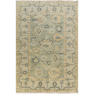 Hand-Knotted Rafael Border New Zealand Wool Rug (5'6 x 8'6)