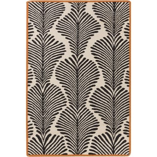 Florence de Dampierre : Hand-Woven Darian Floral Wool Rug (5' x 8')