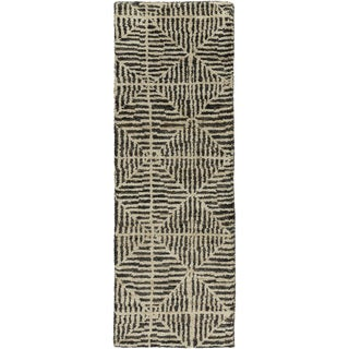 Jill Rosenwald : Hand-Knotted Forrest Geometric Jute Rug (2'6 x 8')