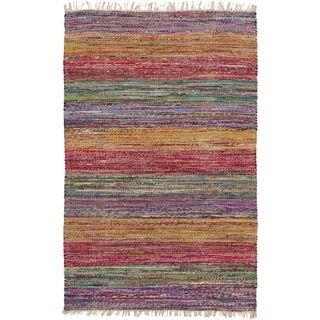 Papilio : Hand-Woven Peart Stripe Reversible Rug (4' x 6')