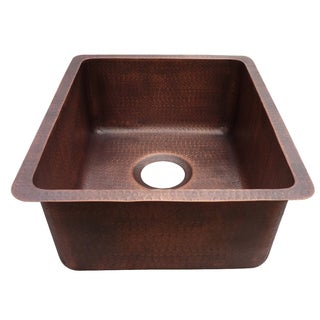 Yosemite Home D�cor Farmhouse Copper Hammered Undermount Bar Sink