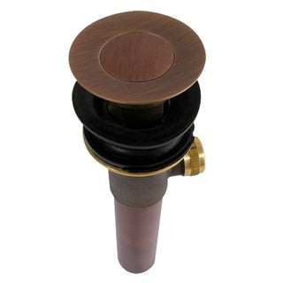 Electroplated Copper Finish Pop up Drain with Lift Rod