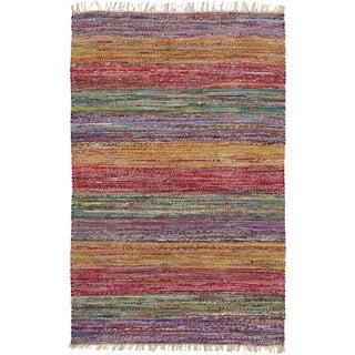 Papilio : Hand-Woven Peart Stripe Reversible Rug (5' x 8')
