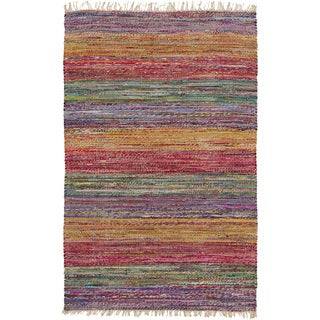 Papilio : Hand-Woven Peart Stripe Reversible Rug (8' x 10')