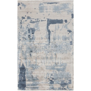 Papilio : Hand-Loomed Smith Abstract Rayon from Bamboo Silk Rug (8' x 10')