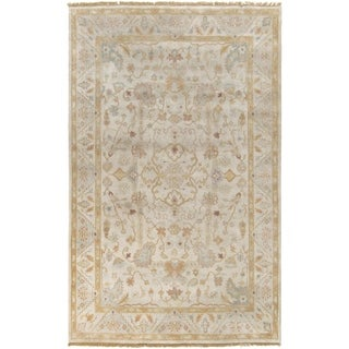 Hand-Knotted Andy Border New Zealand Wool Rug (3'9 x 5'9)