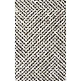 Hand-Crafted Anahi Color Block Hair On Hide Rug (8' x 10')