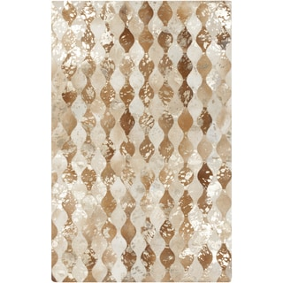 Hand-Crafted Allan Animal Hair On Hide Rug (2' x 3')