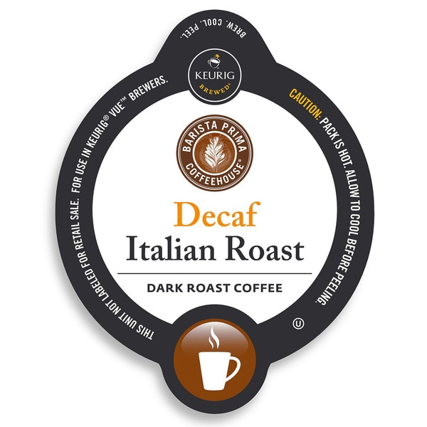 Barista Prima Coffeehouse Decaf Italian Roast Coffee,K-Cup Portion Pack for Keurig Brewers 14967338