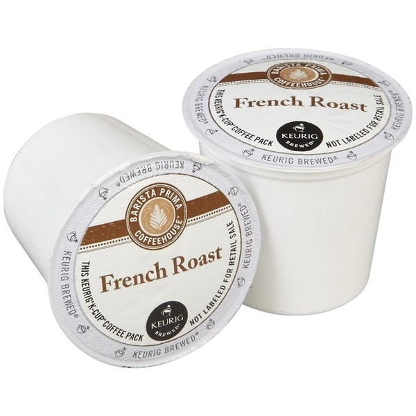 Barista Prima Coffeehouse French Roast Coffee, K-Cup Portion Pack for Keurig Brewers 14967339