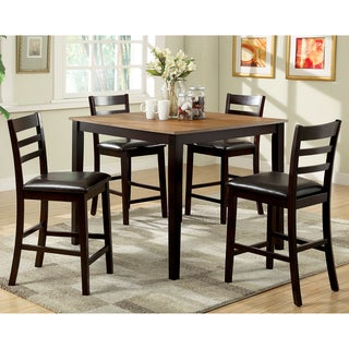Furniture of America Imogen 5-Piece Modern Duotone Counter Height Dining Set