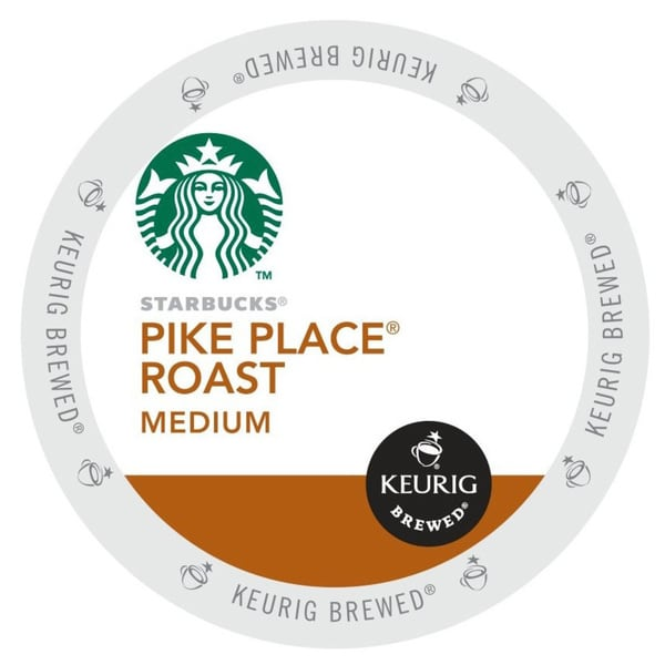Starbucks Pike Place Roast Coffee, 48 or 96 K-Cup Portion Pack for Keurig Brewers
