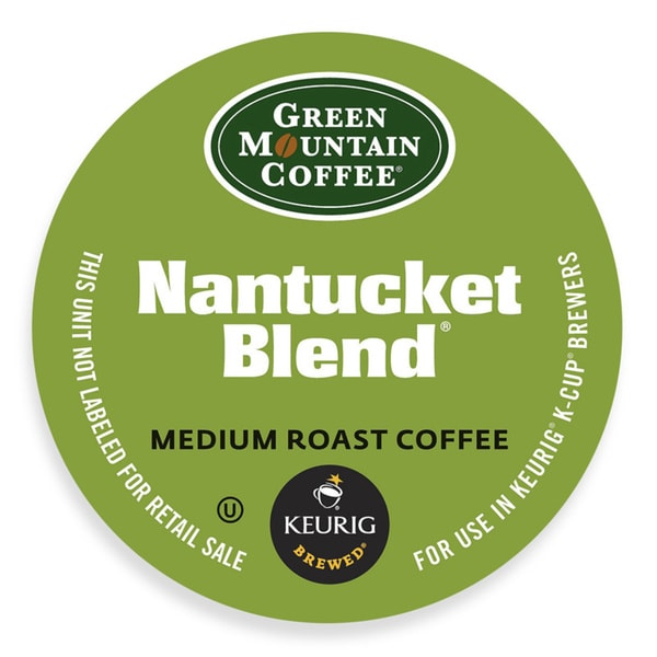 Green Mountain Coffee Nantucket Blend Fair Trade Select Coffee, K-Cups Portion Pack for Keurig Brewe 18292473
