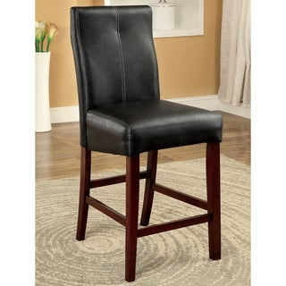 Furniture of America Audrey Contemporary Leatherette Counter Height Chair (Set of 2)