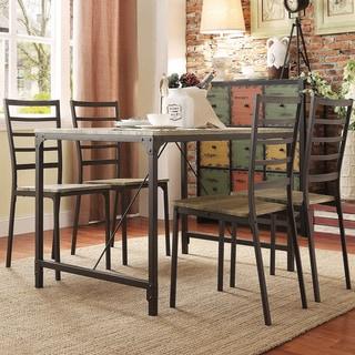 TRIBECCA HOME Sadie Ladderback 5-piece Contoured Metal Dining Set