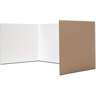 Flipside White Study Carrel (Pack of 24)