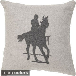 Decorative Nyla 22-inch Poly or Down Filled Throw Pillow